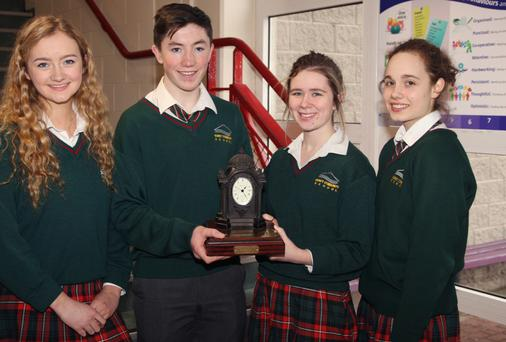 Regional maths quiz winners who will represent the school at the national finals are Michelle Dunne, Charlie Mc Guckin, Ebah Dowdall and Chantelle Esper