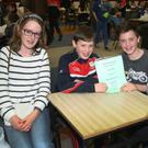 Mary Byrne, James Kinsella, Niall Logan and Evan Mulcahy from Ballyduff NS at the quiz.