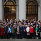 The large number of visitors from Wexford at the Dail.