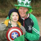 Tamsin O'Neill with her son Eoghan at the Gorey parade