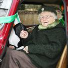 Grand marshal of the Monamolin parade, 96-year-old Margaret O'Leary.