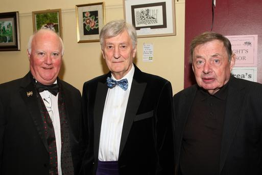 South Wicklow Drama Festival chairman Eamonn Doran, adjudicator Michael Poynor and president Michael Byrne