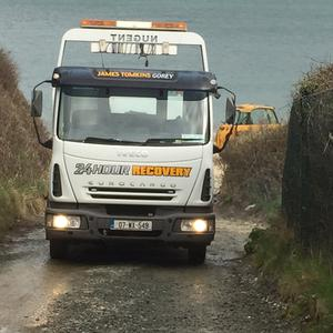 Vehicles at Roney Point, Courtown, last Wednesday afternoon