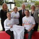 At the launch of the Wexford Marathon (from left): Jo Denby (Clayton Whites Hotel), Dee Boland, Maria Roche (It's Good 2 Talk), Derek Joyce, Neil Reck and Madeleine Quirke