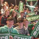 Students enjoying the Boston Celtics play at the TD Garden, Boston