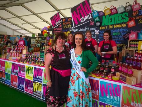 Fiona Falconer, owner Wild about with Wexford Rose, Julie Sinnott at the Wild about Stall at Bloom