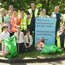 The Ballyduff Development Group taking part in the 2km clean-up