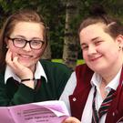 Lily Hendrick-Doyle and Megan Lawlor at Gorey Community School
