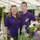 Hazel Woods and Tom Walsh of Kilmurry Nurseries in Gorey which won a Gold Medal