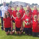 The winning team from Kilnamanagh NS with the Trent Johnston Trophy