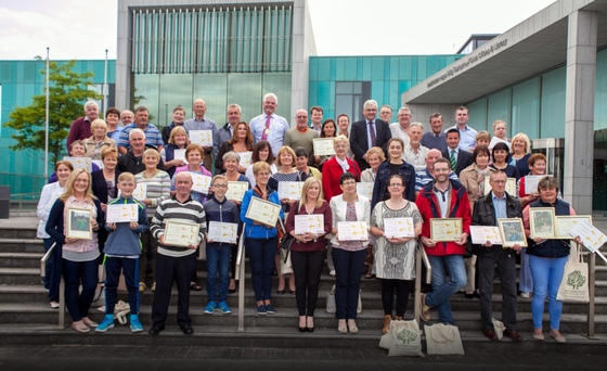 The 2K Clean participants with their certificates at Gorey Civic Centre