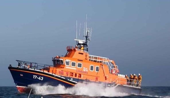 The Rosslare Harbour all-weather lifeboat