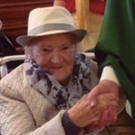 Eileen Gerrard is pictured with Fr William Howell at St Michael's Church, Gorey, on the occasion of her 95th birthday