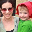 Sarah Whyte with her children Siofra and Sean