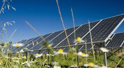 'Lightsource currently has seven solar farms in Northern Ireland, including the first commercial solar farm on the island which is located beside Belfast International Airport.' (stock image)