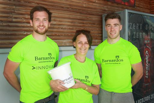 Donnacha Holmes, Majella Deering and Eoin Conroy collecting for Barnardos