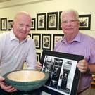 Woodturner Robert O'Connor with photographer Seán Lacey