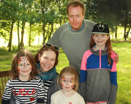 Eoin and Lorna Curran with their daughters Faye, Rose and Grace