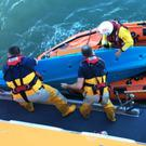RNLI lifeboat crews from Courtown and Arklow were tasked to the scene. Photo: Mark Corcoran/Arklow RNLI