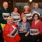 Front: Cllr Mary Farrell, Peg Dempsey, and Mary Atkins (Photo Shop) who compiled the calendar. Back: Niall Darcy, Betty Walsh, Iris McMenamin, chairman John Ahern and Samantha Paya