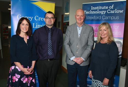 Nicola McGrath, Gorey Library; Tom Brennan, Gorey Credit Union; Seamus Whitney, Whitney Career Guidance and Janette Davies, deputy head of campus at IT Carlow, Wexford campus