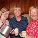 Helen O'Leary, Mary Ryanhart and Renee Stokes at the coffee day at the home of Ivan and Mary Ryanhart, Ballyfoley