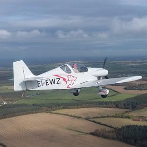 The aircraft flying just south of Taghmon last October. Picture by Peter Tawse of Wexford Flying Club