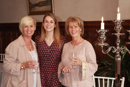 Karen Mooney and Valerie Ronan with Wells House events manager Niamh Carolan (centre)