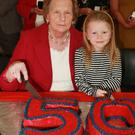 Founder member and player Kit Kennedy and Nessa Byrne cut the cake
