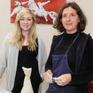 Lisa Byrne of the Presentation Centre in Enniscorthy with artist Anne Manning at Anne's recent sculpture demonstration in the centre. The Presentation Centre is one of the venues supported by the council's arts plan for County Wexford