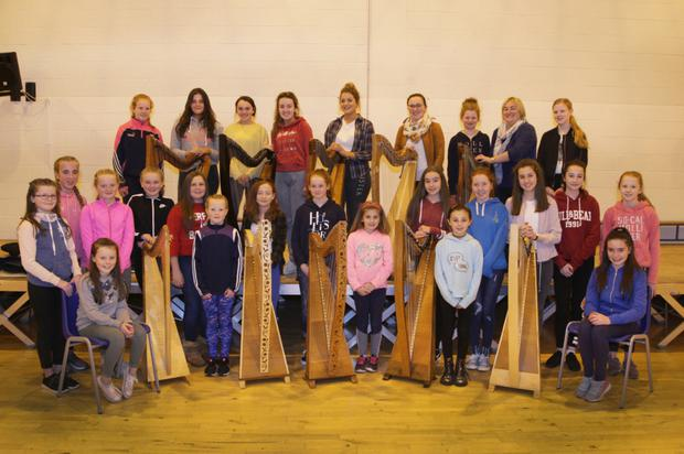 Wexford Harp Ensemble rehearsing for their concert at Wexford Art Centre which takes place this Saturday, November 11, at 1pm.