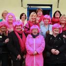 Participants gather before the start of the walk and talk at Gorey Family Resource Centre, which was part of breast cancer awareness