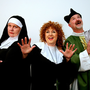 Jennifer Byrne who plays Mother Superior; Naoimh Penston who plays Deloris; and John Young as Monsignor O'Hara, are getting ready to entertain in Carnew Musical Society's 'Sister Act'