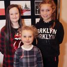 Eire Ni Fhaolain, Hanna Koronkiewicz and Millie Lawton, who all took part in the colouring competition.