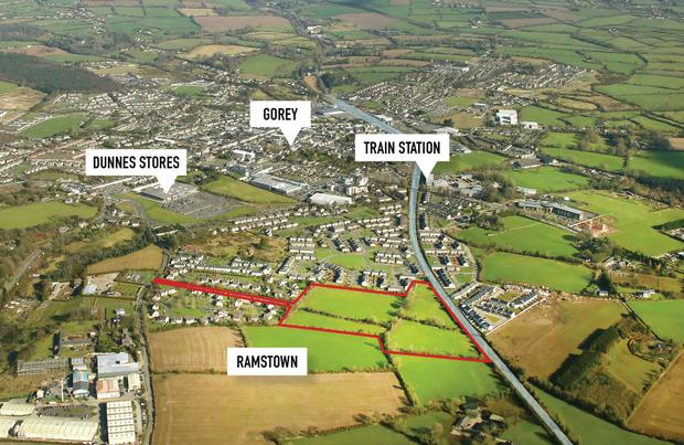 The 14 acre site for sale by private treaty at Ramstown.