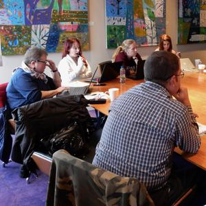 The writers at a recent screenwriting workshop in the National Opera House