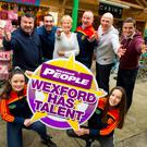 At the launch of the 2018 Wexford Has Talent competition: Cllr George Lawlor, MC; Brian Furlong; Marion Roice; Killian Duignan; Kevin Carty; Philly Cullen; and Ciara and Rachel Furlong.