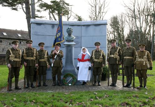 Members of the Enniscorthy Re-enactment Historical Society at Redmond Park