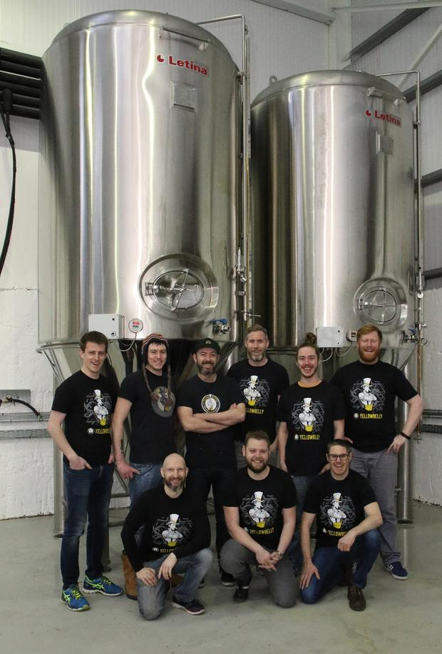 The Yellowbelly team (from left), back – Fergal Kavanagh, Darragh Barnes, Declan Nixon, Nick Lambert, Ruairi McConville and Seamus Redmond; front – Paul Reck, Danny Trappe and Simon Lambert