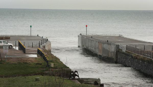 Repair works are now complete on the north and south piers in Courtown