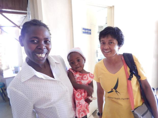 Dr Nalini Ambivagar (right) at a hospital in Malawi