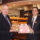 Pettitt's Gorey store manager, Aidan Doyle with managing director Cormac Pettitt at their in-store bakery