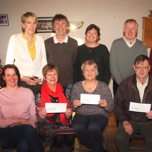 Front from left: Rhoda D'Arcy, NWHNT; Marian Deering, NWHNT; Bernie Kirwan, Hope Centre; Pat Roche, St. Aidan's Service and Margaret O'Doherty, NWHNT. Back from left: Margaret Nolan, Gorey Tennis Club; Ger Murphy, Gorey Tennis Club; Ann Rooney, Gorey Tennis Club; Dr Michael O'Doherty, NWHNT, and James Geoghegan, Gorey Tennis Club