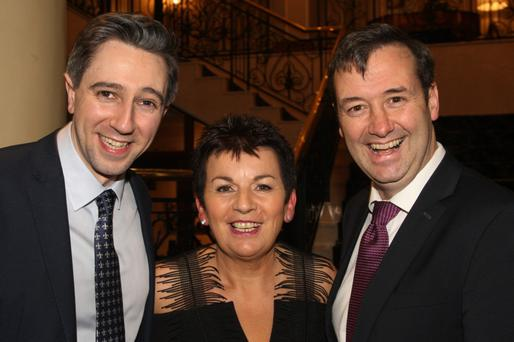 Organiser Josephine Casey with Minister for Health Simon Harris and Minister Michael D'Arcy