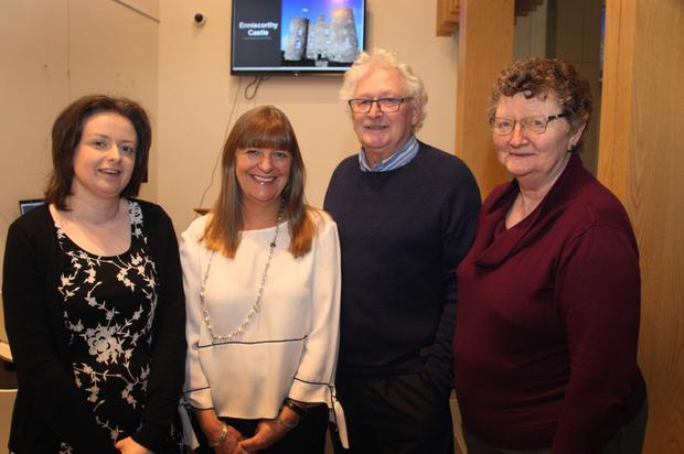 Pictured at Gorey Library for the North Wexford Historical Society talk on Enniscorthy Castle were guest speaker, Mary Brickley; librarian, Martina Halford, Michael Reddy and Noeleen Brown, treasurer