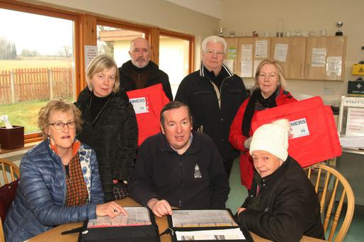Meals on Wheels volunteers, sitting: Julie Lynch, chairman Colin Webb and Roisin Duncan. Standing: Margaret O'Byrne, Paddy D'Eathe, Sean Lacey and Mary Darcy
