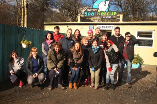 The volunteers who took part in a seal rescue training day at the Seal Rescue Ireland Centre in Courtown