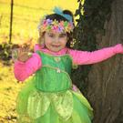 Little fairy: Carley Mae Murphy at Wells House for the launch of the new Fairy Castle