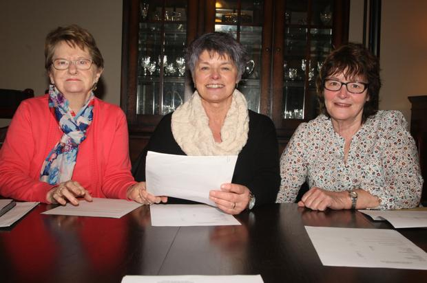 Outgoing officers, Patricia Masterson, Ann Redmond and Eileen Stafford