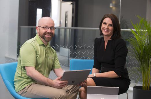 Senior Engineer Gordon Jones and Chief Marketing Officer Mia O'Loughlin of Innovate, Gorey